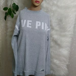 PINK VS Over Sized Terry Cloth Sweatshirt